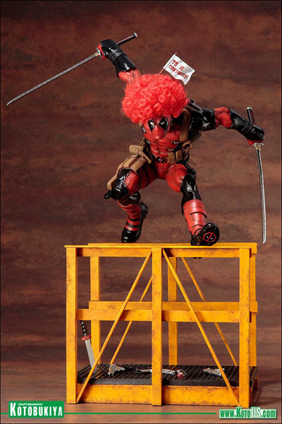 Deadpool jumping into the fray with a comedic red clown afro!