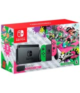Nintendo Switch Splatoon 2 Edition with Neon Green and Neon Pink Joy-COn