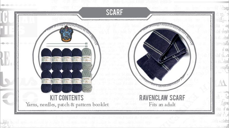 Harry Potter Ravenclaw Scarf Knit Kit extra img