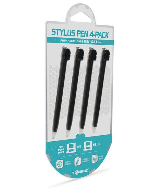 DS Lite & DSi Black Stylus 4 Pack