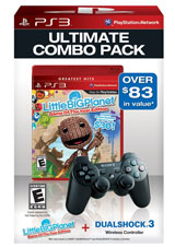 PS3 Dualshock 3 (Black) / LittleBigPlanet Bundle