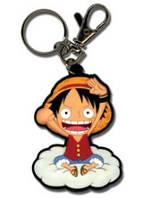 One Piece Luffy On Cloud Keychain