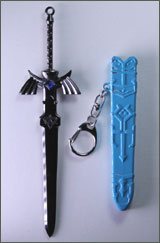 Legend of Zelda Master Sword with Scabbard Keychain