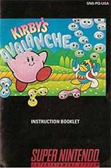 Kirby's Avalanche (Instruction Manual)