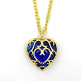 Legend of Zelda Blue Heart Necklace