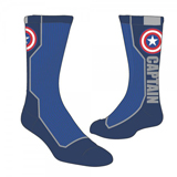 Marvel Captain America Text Active Crew Socks