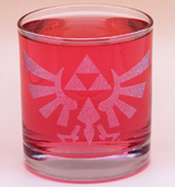 Arts & Crafts: Legend of Zelda Hylian Frosted Logo Custom-made 10oz Glass