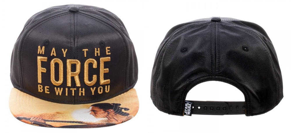 Star Wars May The Force Metallic Embroidered Satin Snapback