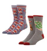 Super Mario Crew Socks 2 Pack