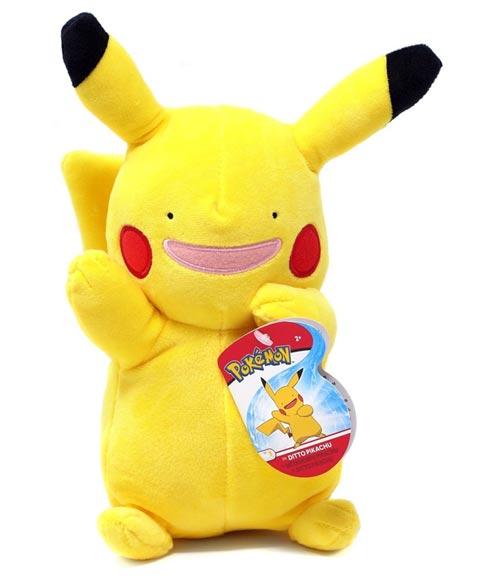 Pokemon Ditto Pikachu 8 Inch Plush Assortment Wave 2