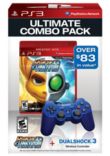 PS3 Dualshock 3 (Blue) / Ratchet & Clank Bundle