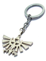 Legend of Zelda: Silver Triforce Logo Keychain