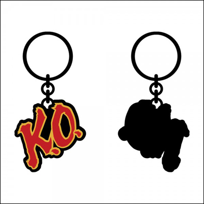 Street Fighter KO Keychain