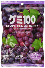 Kasugai Gummy Candy Grape 3.77oz