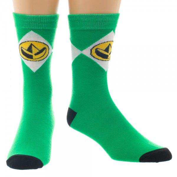 Power Rangers Green Crew Socks