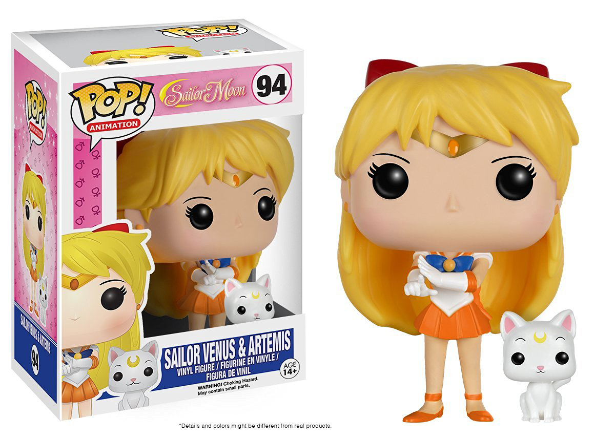 Pop Animation Sailor Moon Sailor Venus and Artemis Vinyl Figure