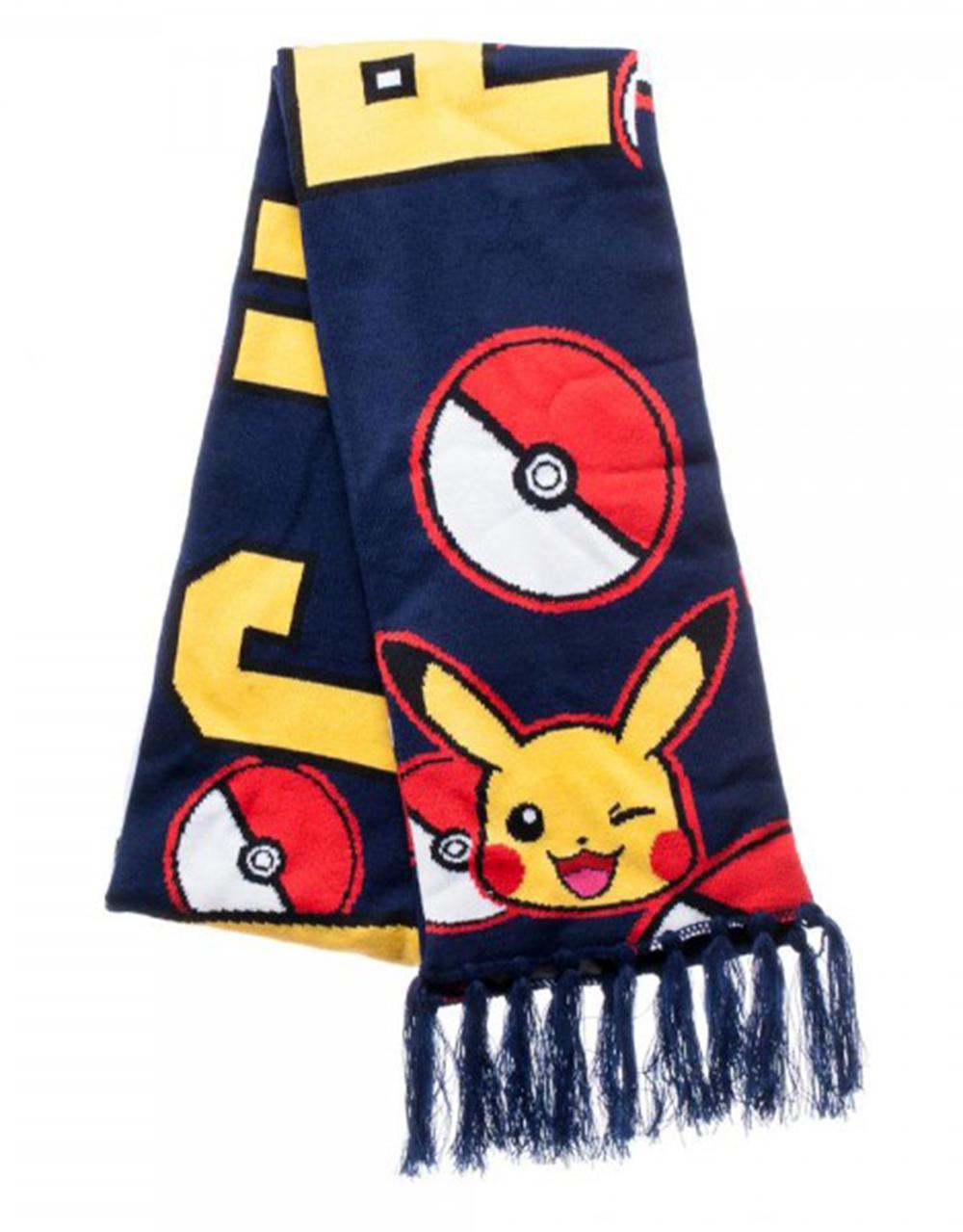 Pokemon Pikachu Knit Scarf