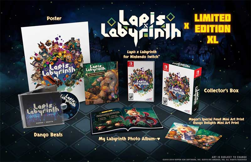 NSW Lapis x Labyrinth Limited Edition XL bonus items