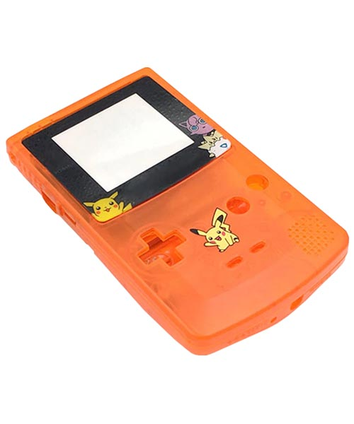 Game Boy Color Housing Shell Replacement Service Pokemon Clear Orange