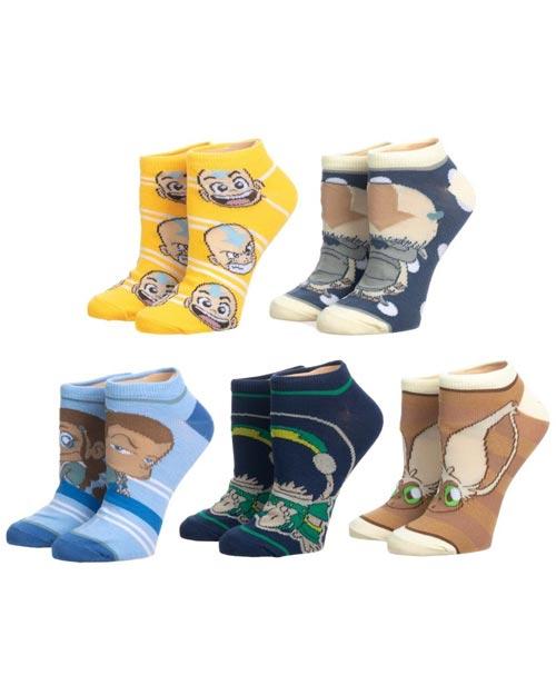 Avatar the Last Airbender Ankle Socks 5 Pack