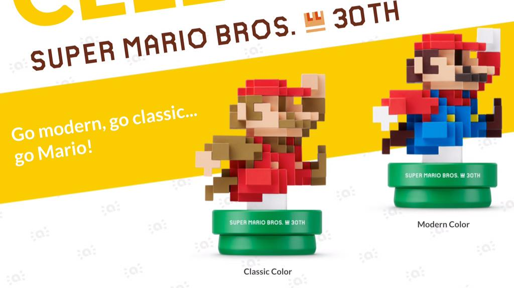 amiibo Super Mario Bros. 30th Anniversary Mario - Classic and Modern