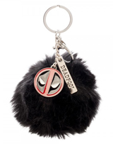 Marvel Deadpool Furry Pom Pom Handbag Charm