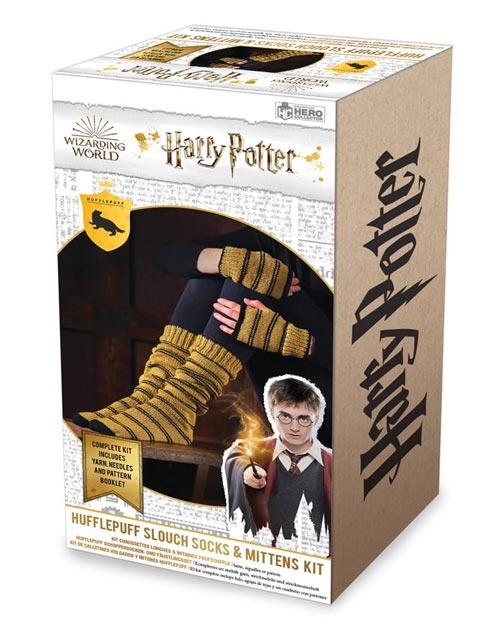 Harry Potter: Hufflepuff Fingerless Mittens & Socks Knit Kit
