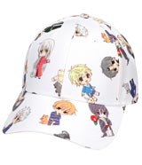 Fruits Basket Character All Over Pattern Pre-Curved Snapback Hat