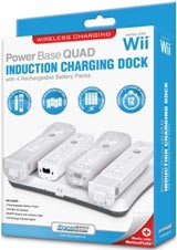 Nintendo Wii Power Base Quad Induction Charging Dock White