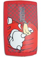Sonic the Hedgehog Knuckles Red Tri-fold Wallet