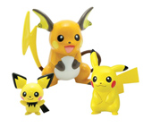 Pokemon Evolution Pikachu PVC Figures 3 Pack