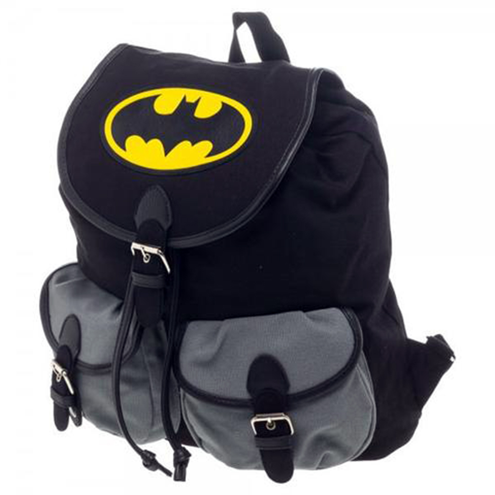 Batman Black and Gray Knapsack