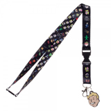 Fallout Emoji Lanyard with Vault Boy Rubber Charm