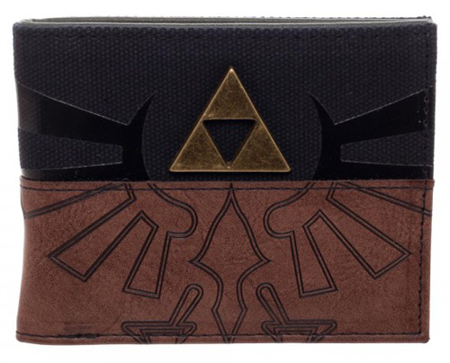 Legend of Zelda PU Black/Brown Bi-Fold Wallet
