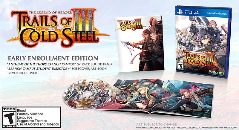 PS4 Legend of Heroes Trails of Cold Steel 3 Early Enrollment Edition bonus items