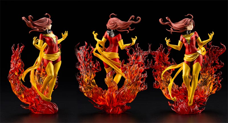 Marvel Dark Phoenix Rebirth Bishoujo Statue additional angles