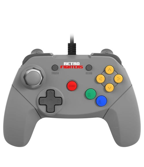 N64 Brawler64 Gray Controller by Retro Fighters