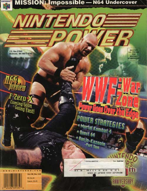 Nintendo Power Volume 110 WWF: War Zone