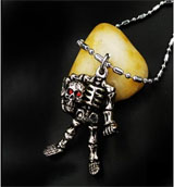 Death Note Skeleton Necklace