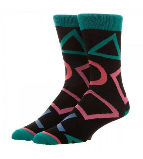 Sony PlayStation Large All over Print Crew Socks