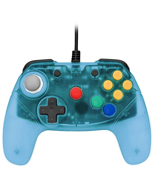 N64 Brawler64 Blue Controller by Retro Fighters