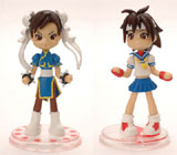 Street Fighter Pinky Street Chun-Li and Sakura 2 Figure Set