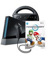 Nintendo Wii Mario Kart Bundle Black