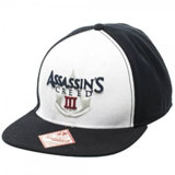 Assassin's Creed III Black and White Logo Snapback Cap