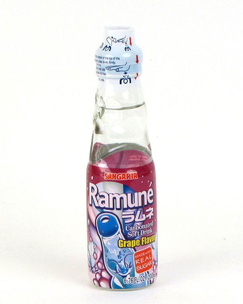 Ramune Grape Carbonated Soft Drink