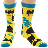 Batman Symbols All Over Print Crew Socks