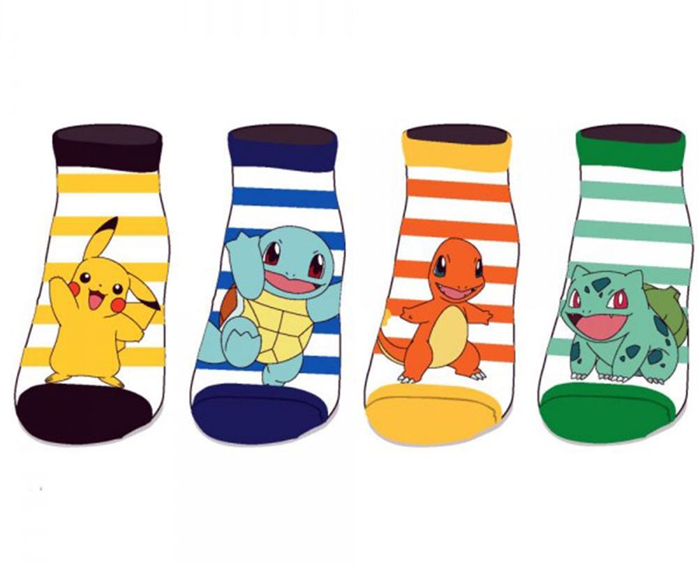 Pokemon Kanto Starters Ankle Socks 4 Pack
