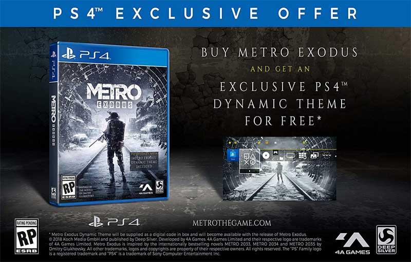 Metro Exodus Day One Edition PS4 bonus