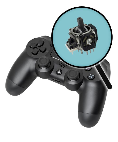 PlayStation 4 Repairs: Controller Single Analog Joystick Replacement Service