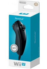 Nintendo Wii / Wii U Black Nunchuk by Nintendo